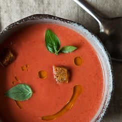 Eleven Madison Park's Strawberry Gazpacho