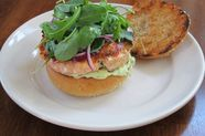 Salmon Burgers with Avocado Aioli