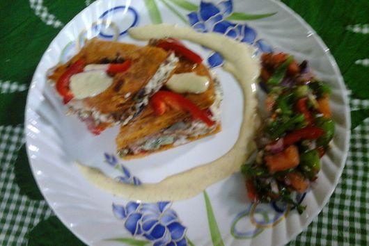 Stir Fried Chicken Quesadillas With Mayo Salsa