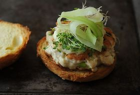 Dinner Tonight: Tuna Burgers + Miso Cabbage Salad