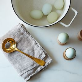 Brass Egg Spoon