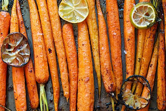 Agave-Cinnamon-Lime Roasted Carrots