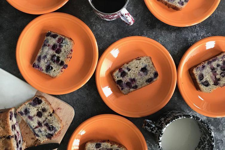 banana blueberry snacking cake