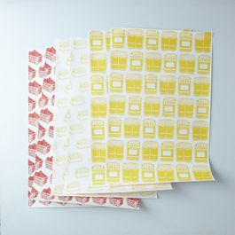 Food Print Gift Wrap