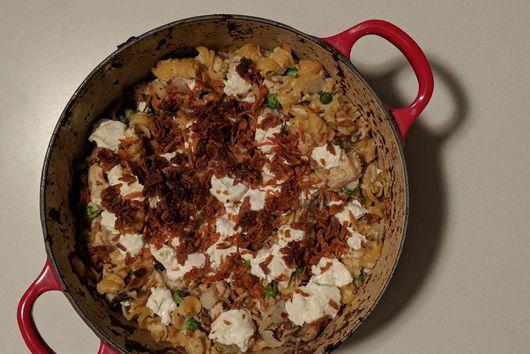 Cauliflower Tuna Noodle Casserole