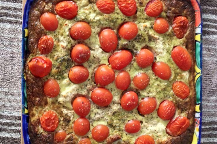 Tomato & Pesto Quiche
