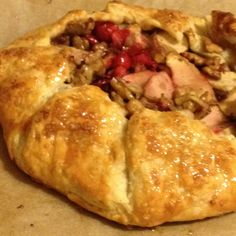 Galette With Apples,Walnuts Sage and Cranberries