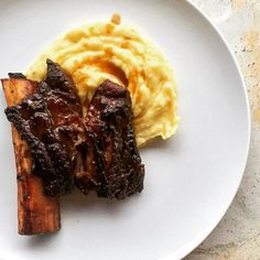 Braised Short Ribs + Black Truffle Mash