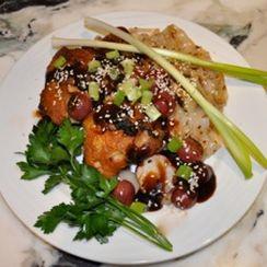 Peking Style Chicken with Pan Roasted Grape Hoisin