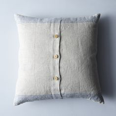 Agrarian Striped Linen Pillow