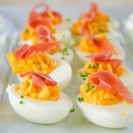 83dbf715 c998 4dc4 a1cd f4e155984c95  devil s eggs with goat cheese and prosciutto