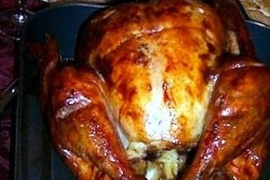 Roasted turkey with stuffing inside or out