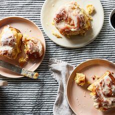Peach Butter Cinnamon Rolls
