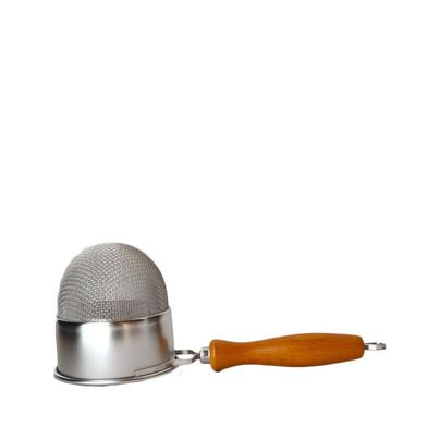 Deep Basket Strainer with Wooden Handle