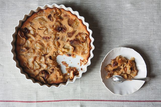 Brown Buttered Candied Apple Clafoutis from Food52