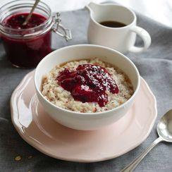 Coconut Quinoa Porridge with Berry Compote