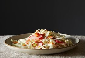 Pati Jinich Chooses Pancetta Slaw with Chili-Lime Vinaigrette