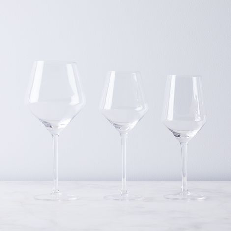 Handblown Stemmed Wine Glasses (Set of 4)