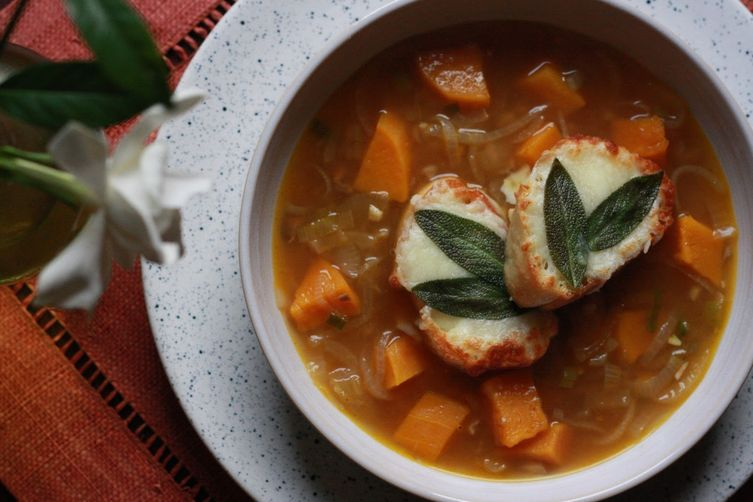 Butternut Squash and French Onion Soup