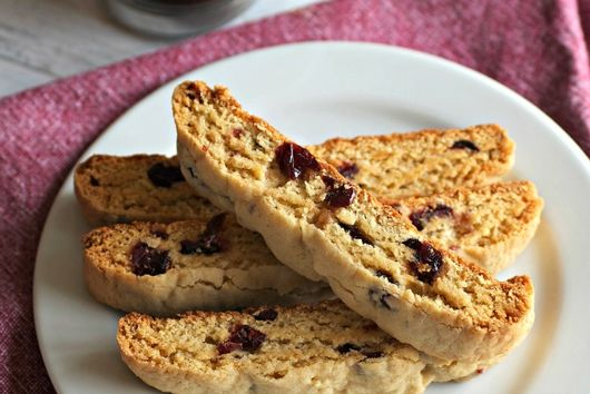 Cranberry Lemon Biscotti