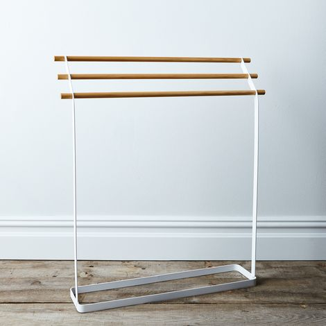 Steel & Wood Linen Rack