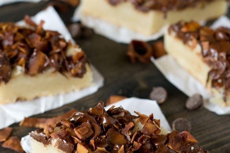 Chocolate Coconut Shortbread Bars