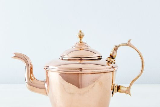 Vintage Copper William Soutter Teapot, Mid 19th Century
