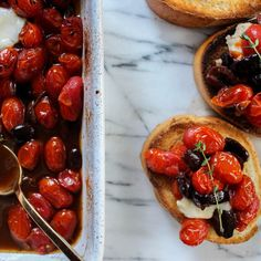 Roasted Tomatoes & Kalamata Olives with Thyme