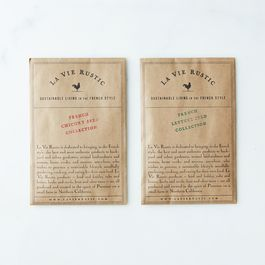 French Lettuce and Chicory Seed Packets (Set of 2)