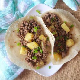 Paleo Pineapple Beef Tacos