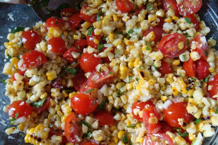 Heirloom Tomato and Grilled Corn Salad