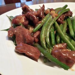 Chinese Stir-Fry Beef and String Beans