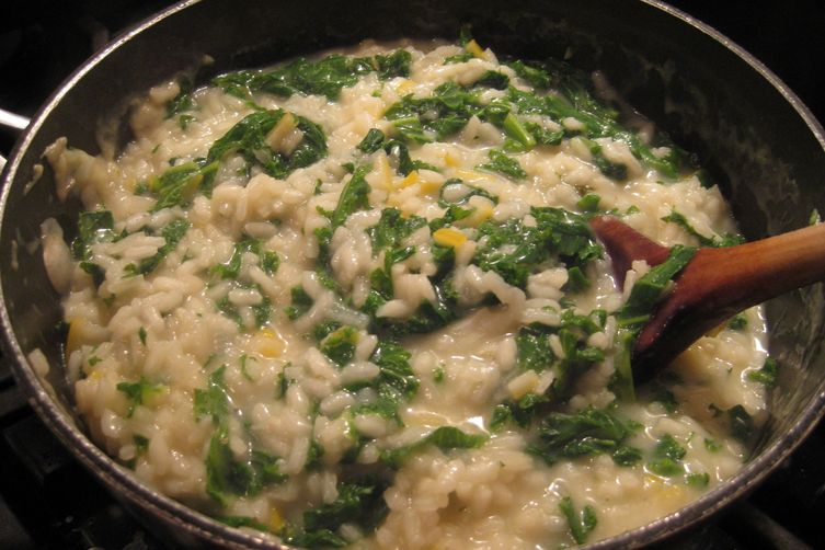 Mustard Greens and Mustard Risotto