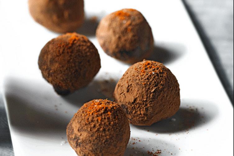 Chocolate Garam Masala Truffles