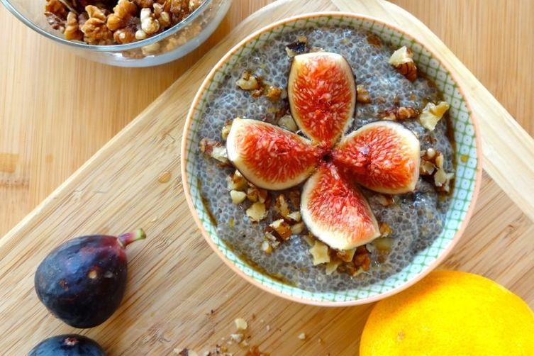 Citrus & Fresh Fig Chia Seed Pudding