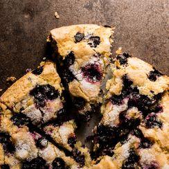 Gluten Free Blueberry Cornbread Cake