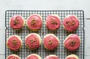 Soft Yogurt Cookies with Raspberry Glaze