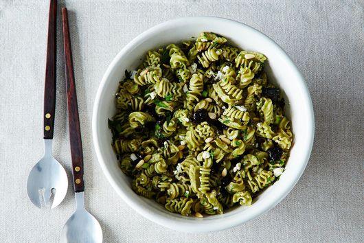 Simple Fish and Corn + Pasta Salad