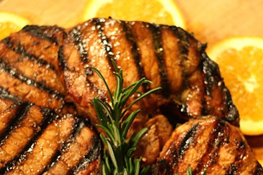 Grilled Orange Ham Steak