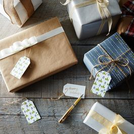 Cozy Cottage Letterpress Gift Tags (Set of 16)
