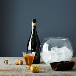 Handblown Glass Ice Bucket