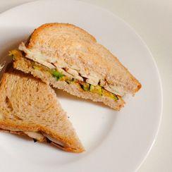 Grilled Zucchini Sandwich (with smoked tofu and smoked vegan mozzarella)