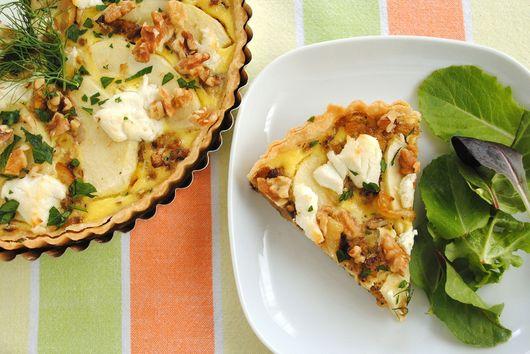 Caramelized Fennel & Apple Tart