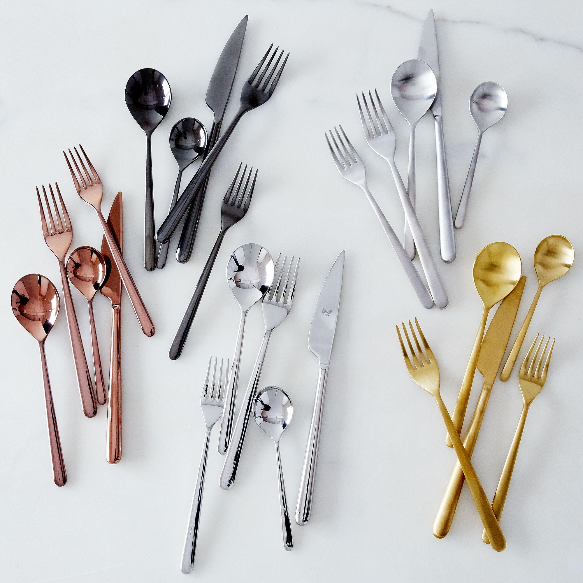 Italian Flatware, Linea (5 Piece Set) - Flatware -- Dinnerware ...