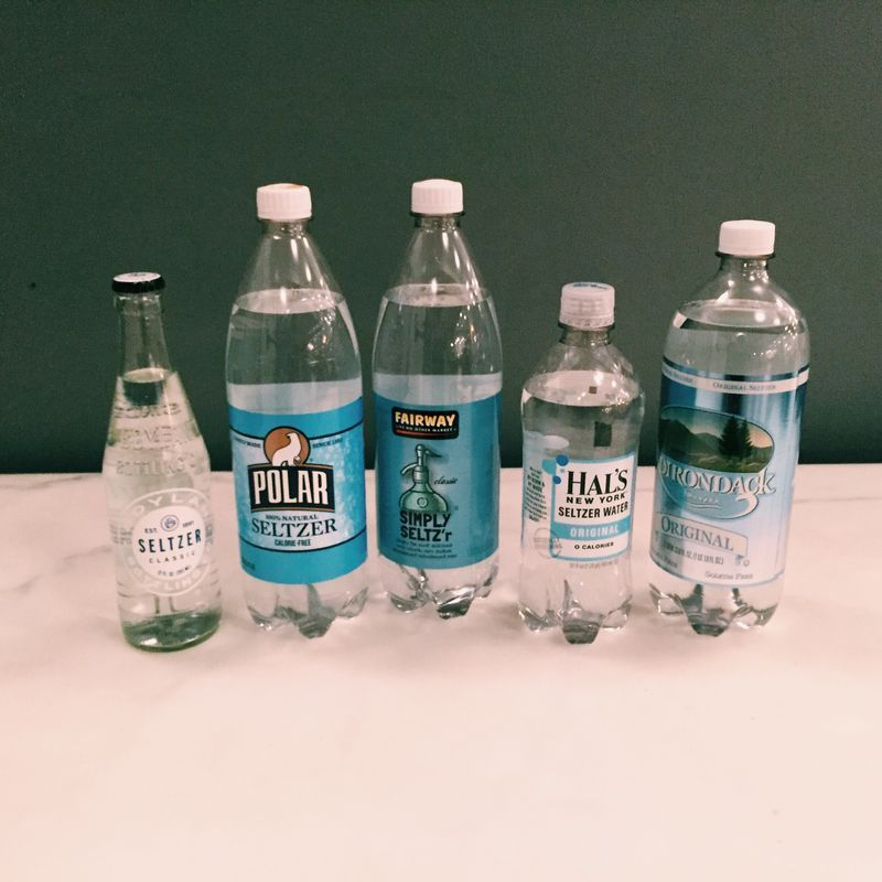 These are sparkling waters—but close enough!