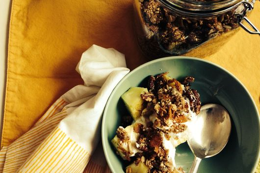 Amaranth Granola + Pineapple Yogurt Parfait
