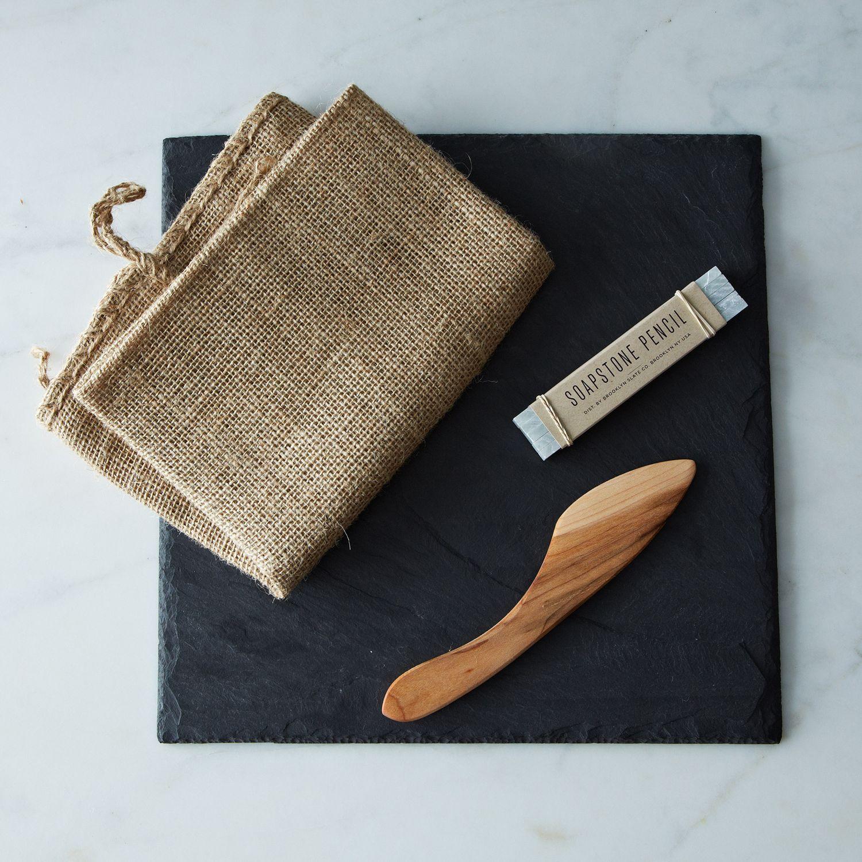 Brooklyn Slate Cheese Board Knife And Soapstone Pencil