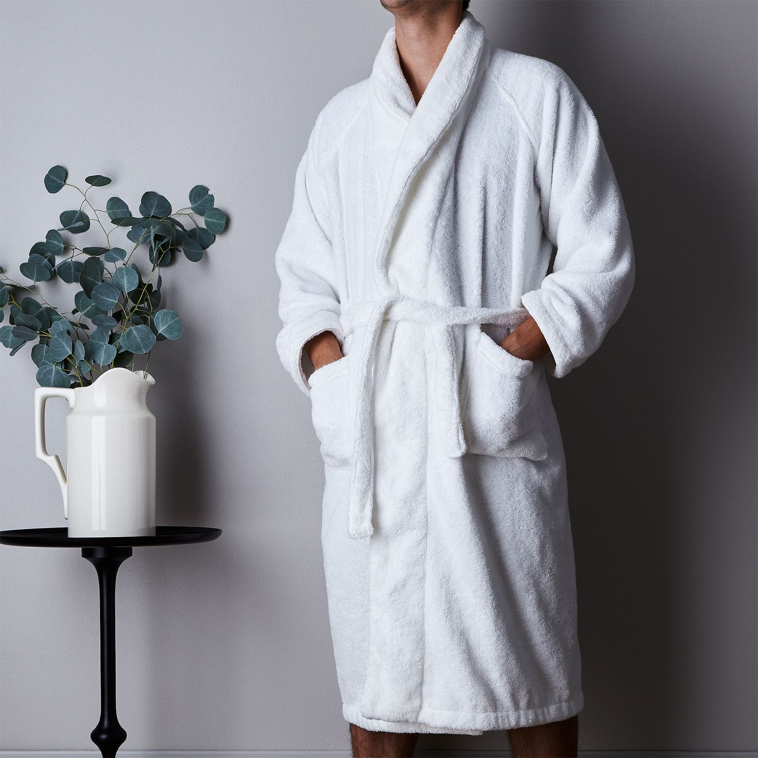 Bathrobe: Unisex White Plush Bathrobe On Food52