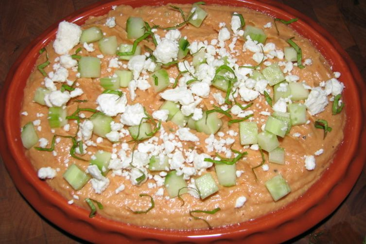 Grilled Red Pepper White Bean Dip