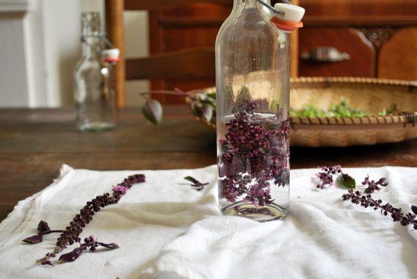 Basil Flower Vinegar